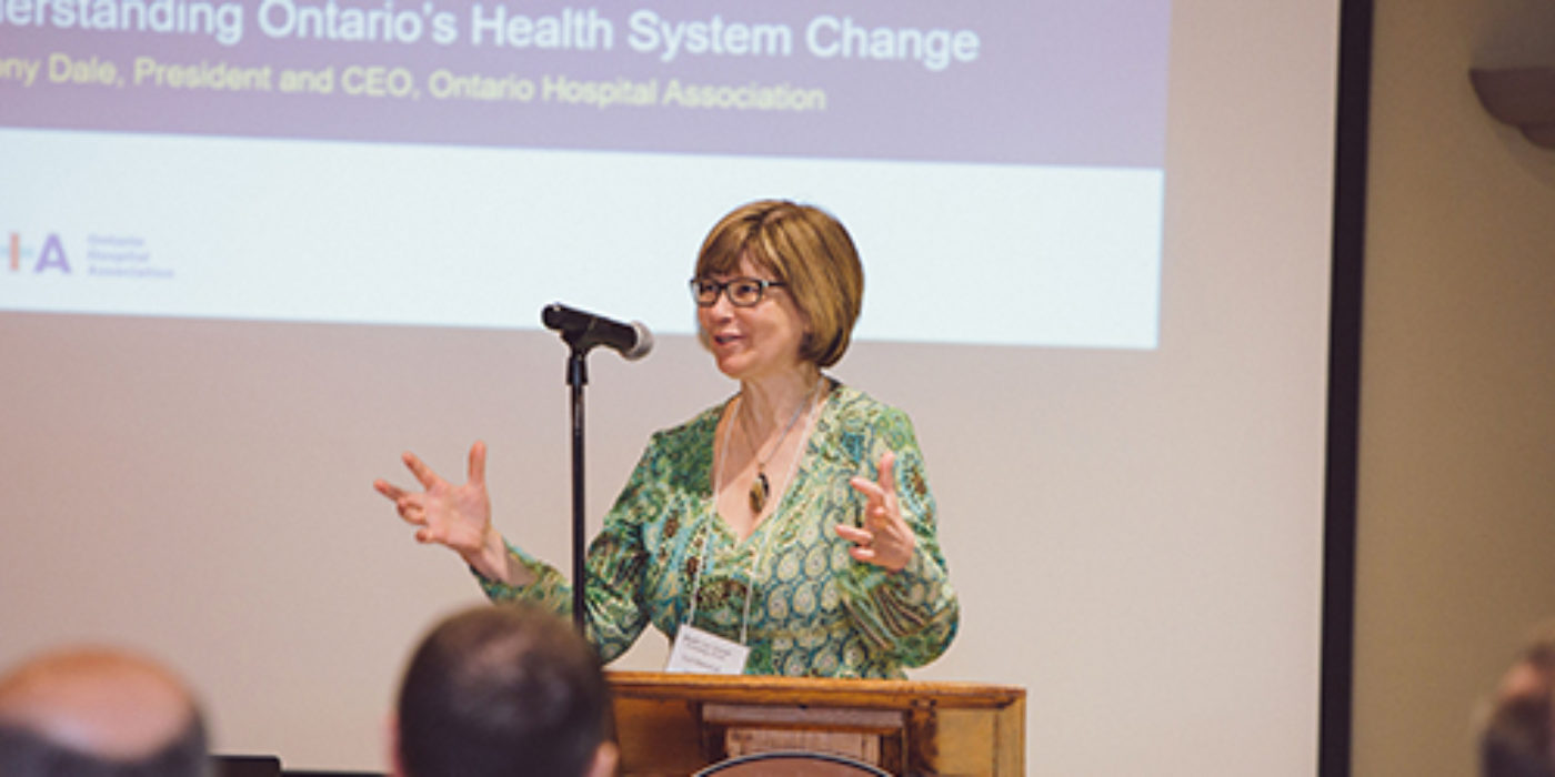 Lori Marshall speaking at event
